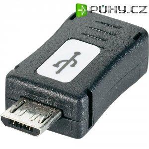 Adaptér USB 2.0, Micro-B/Mini-B, černý