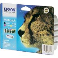 Cartridge Epson T0715, C13T07154010, žlutá/cyan/magenta/černá