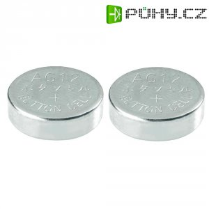 Knoflíková baterie Conrad energy LR43, alkalická/manganová, 2 ks