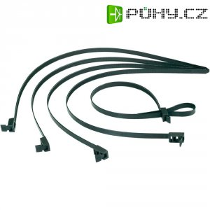 Stahovací pásek s rychlopojistkou H-Tyton SPEEDYTIE-HIRS-BK-V1, 750 x 13 mm, černá, 5 ks