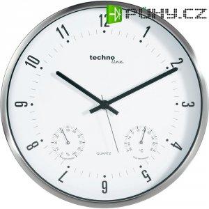Analogové nástěnné hodiny s tep./vlh. Techno Line WT 7980, Ø 33 x 5 cm
