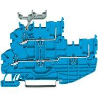 Hlavní svorka WAGO 2020-2204, osazení: N, pružinová svorka, 3.50 mm, modrá, 1 ks