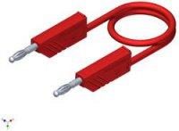Měřicí silikonový kabel SKS Hirschmann, 1 mm², délka 1 m, červená