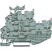 Řadová svorka 2vodičová Wago 2020-2238, se štítkem, pružinová, 3,5 mm, šedá