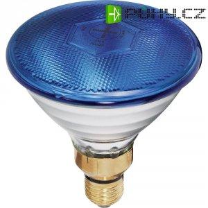 Reflektorová žárovka PAR 38, E27, 80 W, typ Economy-flood, modrá