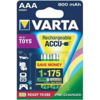 Akumulátor Varta Toy Ready-To-Use, NiMH, AAA, 800 mAh, 2 ks