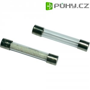 Jemná pojistka ESKA středně pomalá 530211, 500 V, 0,25 A, skleněná trubice, 5 mm x 30 mm