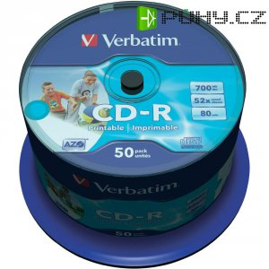 CD-R 80 700 MB Verbatim 43309 50 ks vřeteno s potiskem