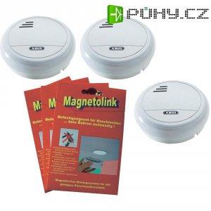 Úsporná sada 3 ks hlásičů kouře s magnetem ABUS