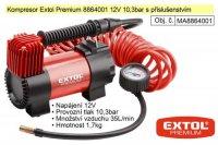 Kompresor 12V Extol Premium, max10,3Bar,35l/min