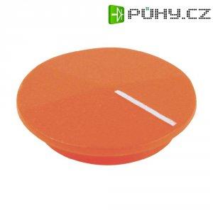Krytka na otočný knoflík Cliff CL177807, s ukazatelem, pro sérii K12, oranžová