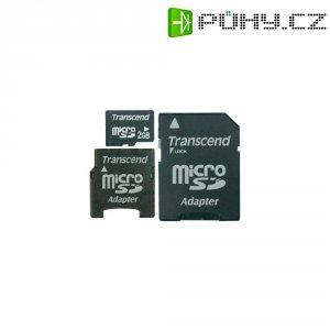 Paměťová karta microSD Transcend 2GB Class 2, adaptéry
