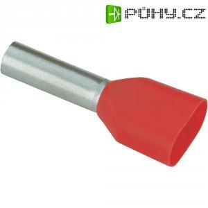Dvojitá dutinka Vogt 460408D, 1,5 mm², 8 mm, 100 ks, červená