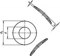 Pružné podložky TOOLCRAFT A3 D137-A2 194666, DIN 137, vnitřní Ø: 3.2 mm, vnější Ø: 6 mm, 100 ks