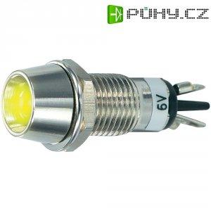 LED signálka SCI R9-115L 6, vnitřní reflektor 5 mm, 6 V/DC, žlutá