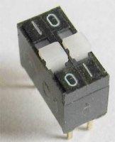DIP spínač 2x TESLA TS501 21 23, řazení 01-10 * spřažené