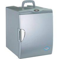 Termoelektrická mini chladnička, 12/230 V, 24 litrů, stříbrná