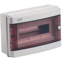 1řadá rozvodná skříň IDE 20802 na omítku, 12 modulů, IP55