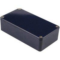 Univerzální pouzdro hliníkové Hammond Electronics, (d x š x v) 111,5 x 59,5 x 31 mm, modrá