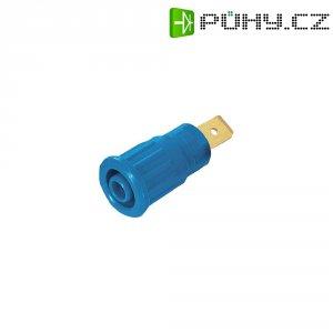 Labor. zásuvka MultiContact 23.3150-23, vestavná vertik., Ø 4 mm, modrá