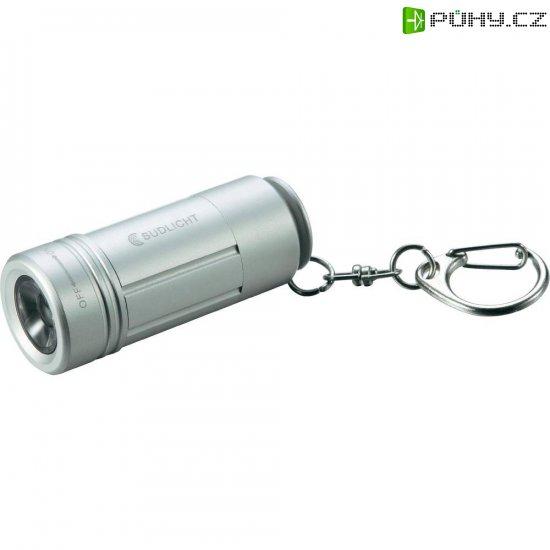 Kapesní USB LED svítilna Südlicht AllDay S3, SL0262, 0,5 W, stříbrná - Kliknutím na obrázek zavřete