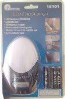 Noční světlo LED s PIR čidlem, napájení 3xAA