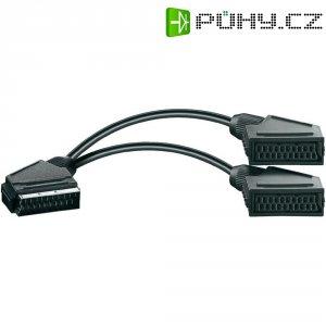 Splitter kabel SCART zástrčka/2x zásuvka, 0,2 m
