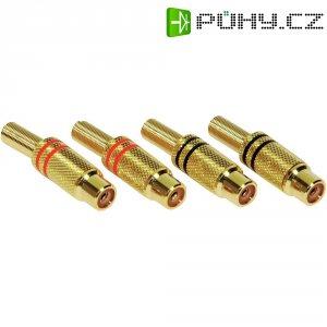 Sada zlacených konektorů cinch (F), 4 ks