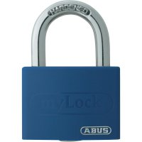 Visací zámek na klíč ABUS ABVS50005, 43 mm, modrá