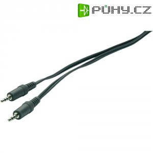 Připojovací kabel SpeaKa, jack zástr. 3.5 mm/jack zástr. 3,5 mm, černý, 2 m