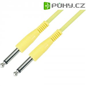 Instrumentální kabel s pogumováním JACK 6,3 mm Paccs, 4 m, žlutý