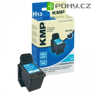Cartridge KMP = HP 27, H13 0997,4271, černá