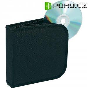 Taška pro 28 CD černá 28 CD/DVD (d x š x v) 160 x 158 x 40 mm Renkforce