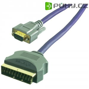 Kabel adaptéru SCART na VGA Sound & Image 2 m