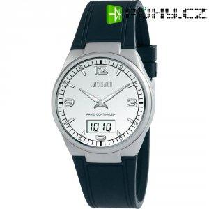 Ručičkové náramkové DCF hodinky Eurochron Titan 771, silikonový pásek, černá/stříbrná
