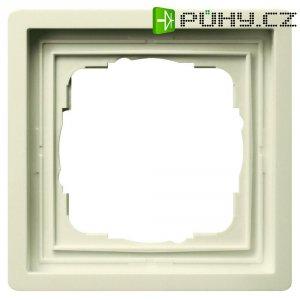 Rámeček plochého spínače 1dílný Gira, standard 55, krémově bílá (0211111)