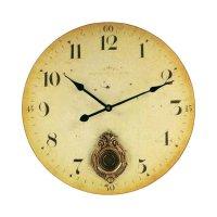 Analogové nástěnné hodiny Techno Line s arabským kyvadlem, 34 cm