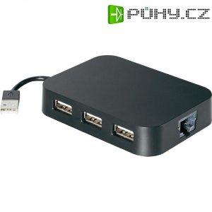 Síťový adaptér USB 2.0 Ethernet, 3-portový