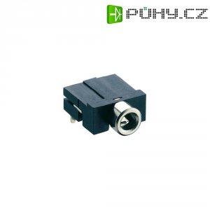 Jack konektor 3,5 mm stereo Lumberg KLBR, Rozpínač, zásuvka vestavná horizontální, 3pól., černá