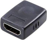 SpeaKa HDMI prodlužovací kabel, zástrčka/zástrčka, 0,9 m + adaptér zásuvka/zásuvka