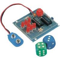 Elektronická hrací kostka s LED Conrad Electronic , stavebnicový díl, 9 V/DC