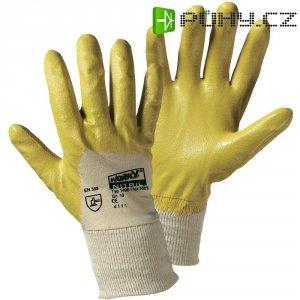 Pracovní rukavice worky Flex-Nitril, yellow 1496, Nitrilkaučuk sbavlnou, velikost rukavic: 9, L
