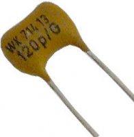 10pF/300V WK71413, slídový kondenzátor