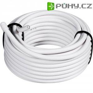 SAT koaxiální kabel Conrad 0806003/25, stíněný, bílá, 25 m