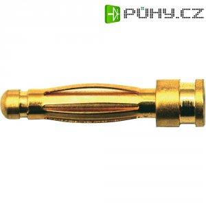 Kontakt 2 mm Modelcraft, zástrčka a zásuvka, zlacený