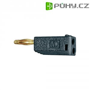 Lamelový konektor Ø 2 mm MultiContact 22.2615-21, zástrčka rovná, černá