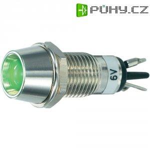 LED signálka SCI R9-115L 6, vnitřní reflektor 5 mm, 6 V/DC, zelená