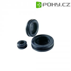 Záslepka Richco DGB-7, 19 x 16 x 11 x 1,5 x 8 mm, černá