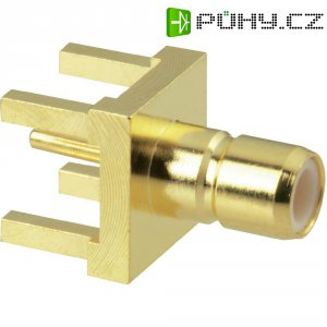 SMB konektor Amphenol SMB1251B1-3GT30G-50, 50 Ω, zásuvka vestavná vertikální