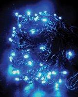 Řetěz vánoční 120 LED 20m 1V02-B modrý